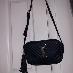 Navy blue ysl crossbody bag